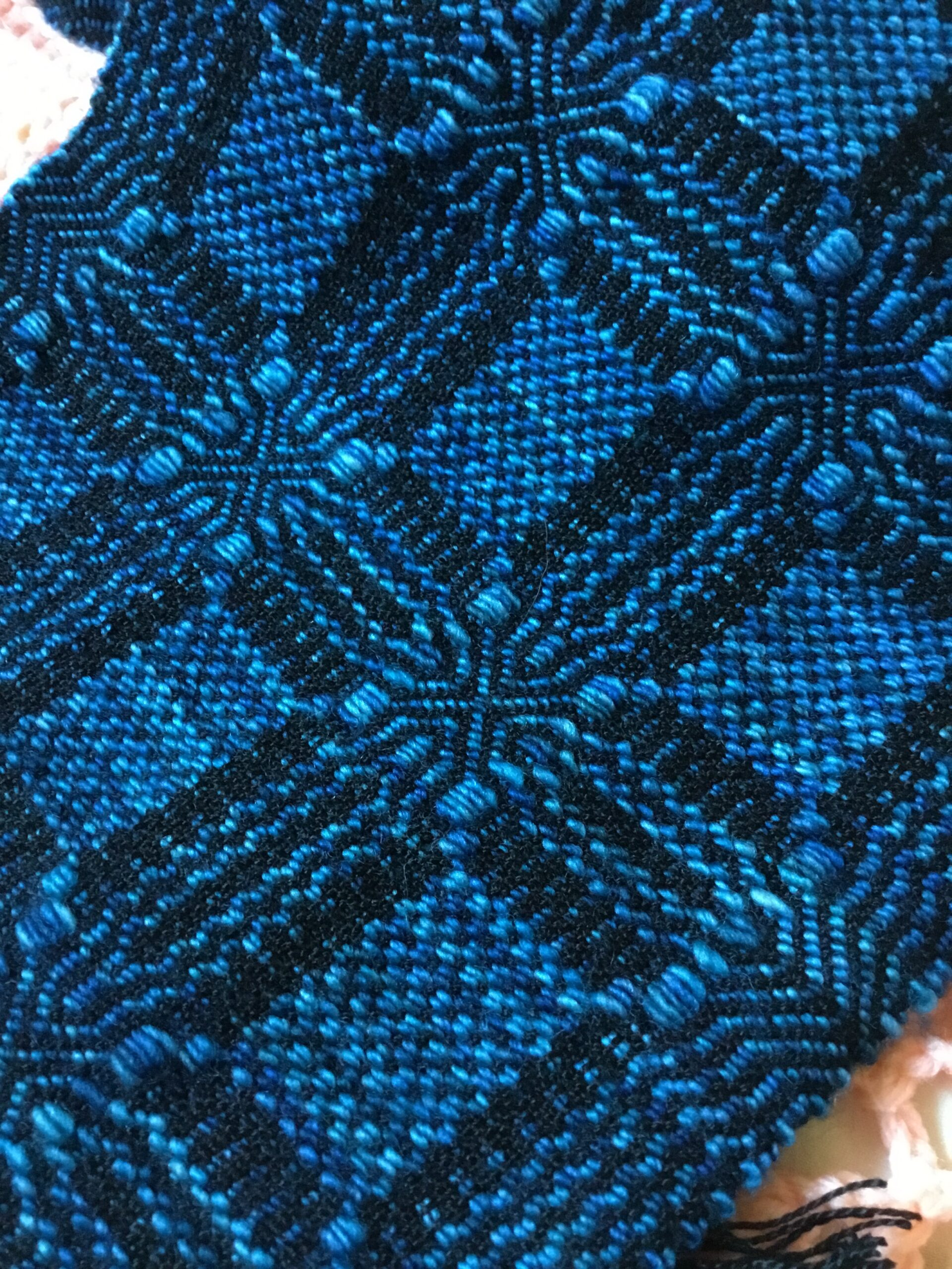 "Detail of ""Memphis Blues"" scarf"