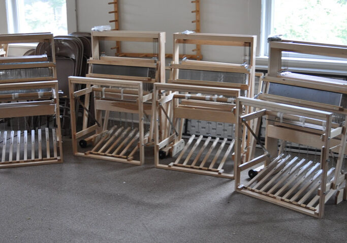 MGHW's four Harrisville Designs floor looms
